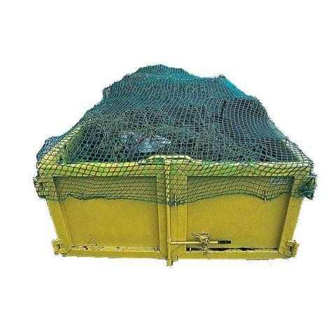 Krycí síť na kontejner zelená 3,5x6 zelená,oka 50mm,síla 3mm