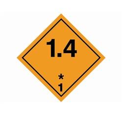 Samolepka bezp.značka tř.1.4 Náchylné k výbuchu, 25x25