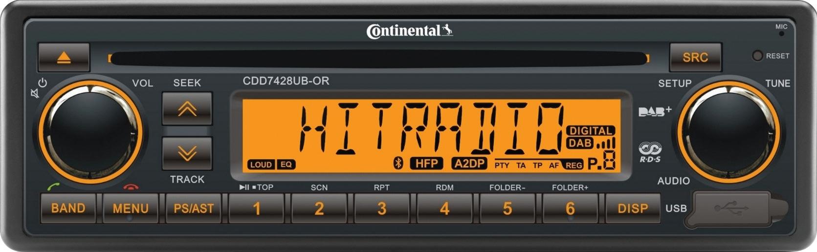 Radio Continental, 24V (RDS), CD/MP3, USB, Bluetooth, 7428UB-OR