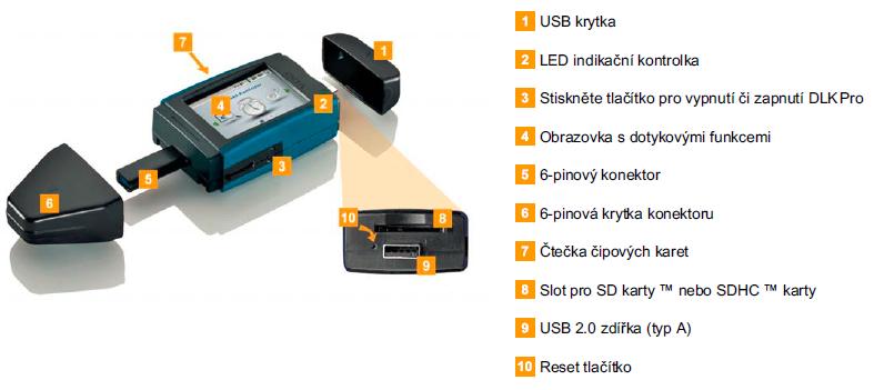 Flash VDO Downloadkey PRO ke stahování dat z DT a karet řidičů