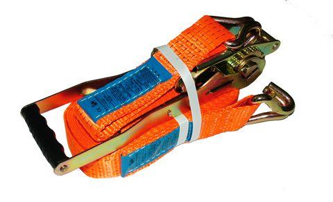 Upínací pás 8 m/5 t s Ergo ráčnou a dvěma háky