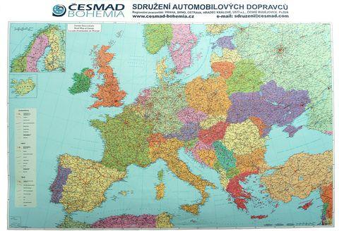 Nástěnná mapa - Evropa