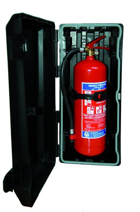 Komplet hasicí přístroj (6 kg) + plastový kryt