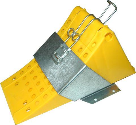 Klín zajišťovací 200mm polypropyl.žlutý
