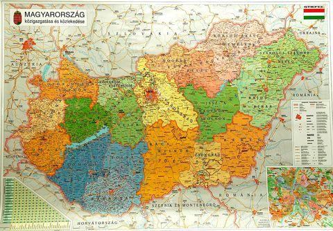 Nástěnná mapa - Maďarsko
