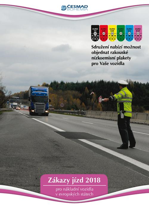 Zákazy jízd nákladních vozidel v Evropě 2018