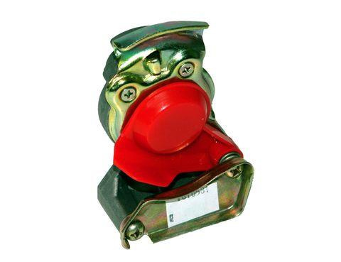 Pneu.spojka s ventilem M22 červená