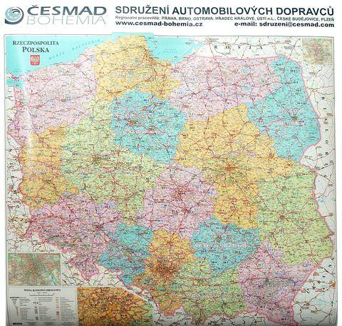 Nástěnná mapa - Polsko