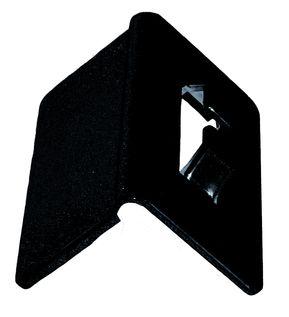 Pevný černý ochranný roh 130 x 100 mm