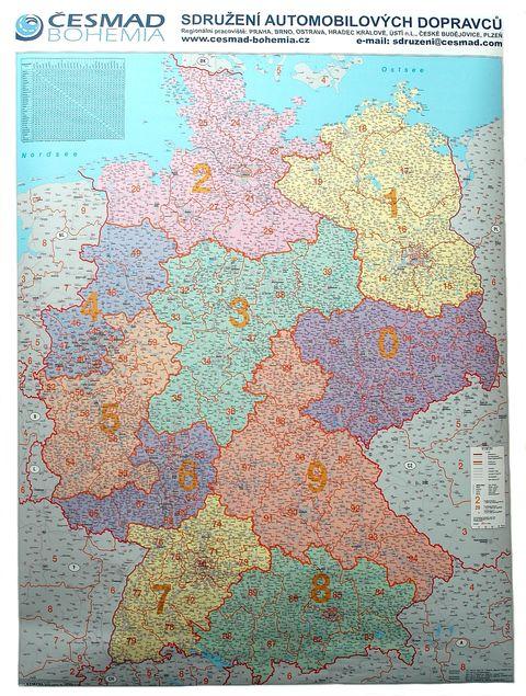 Nástěnná mapa - SRN POST LEIT