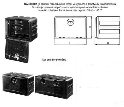 Plastová schránka na nářadí 400š x 370h x 350v