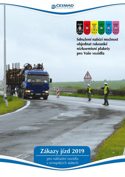 Zákazy jízd nákladních vozidel v Evropě 2019