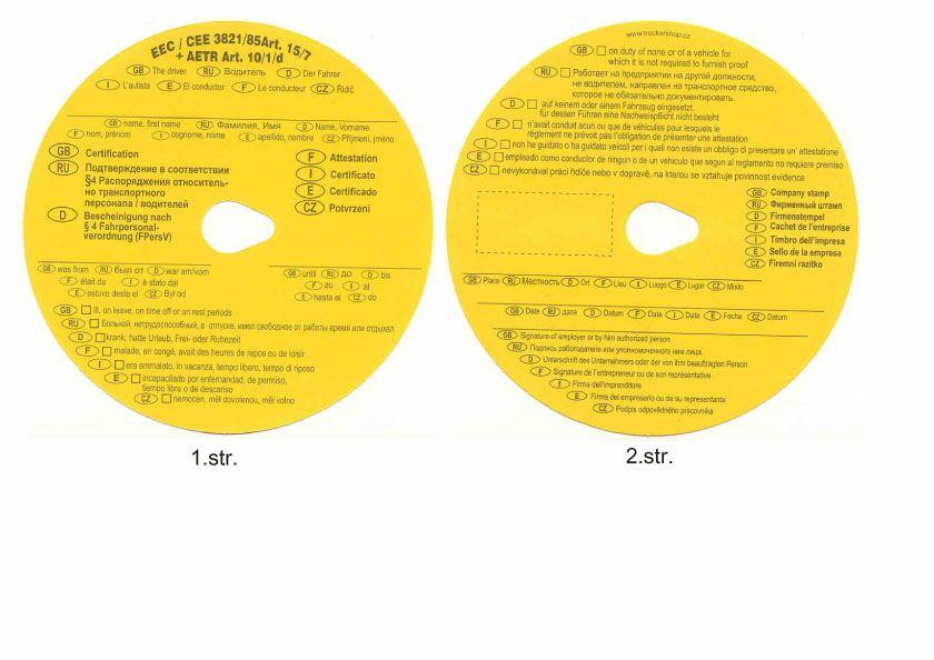 Žluté kotoučky - potvrzení