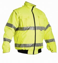 Reflexní kabát Clovelly žlutý