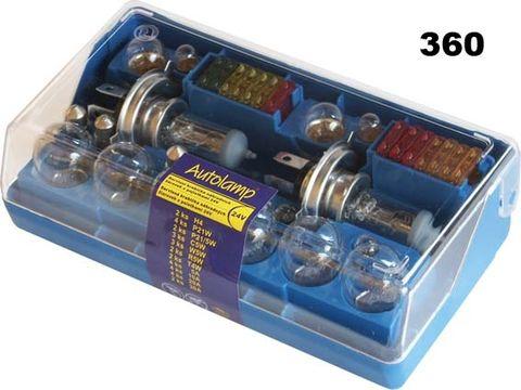 krabička AUTOLAMP DUO univerzální 2x H4 24V