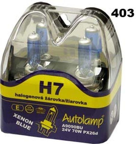 krabička AUTOLAMP H7 24V 70W PX26d XENON BLUE 2ks
