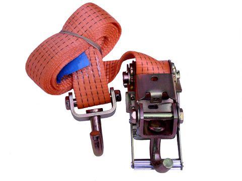 Upínací pás pro přepravu osobních vozidel 2,5m,5t se 3 otoč.háky bez ochranné podložky