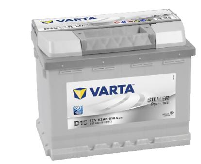 Autobaterie VARTA Silver Dynamic 12V, 63Ah