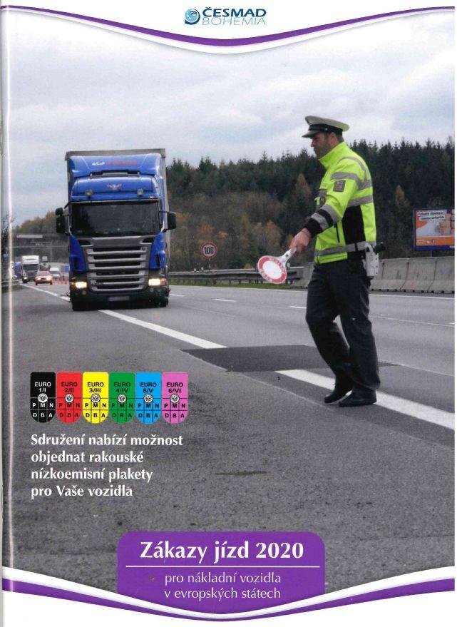 Zákazy jízd nákladních vozidel v Evropě 2020