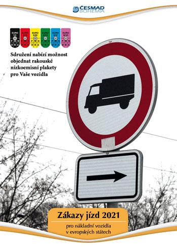 Zákazy jízd nákladních vozidel v Evropě 2021